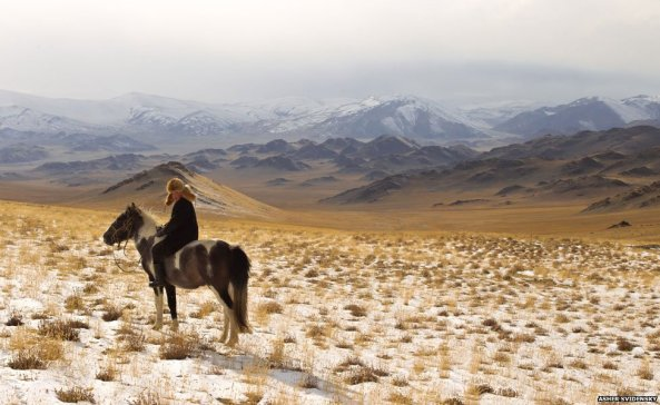 Ashol Pan, 13-year-old Eagle Huntress , Mongolia V