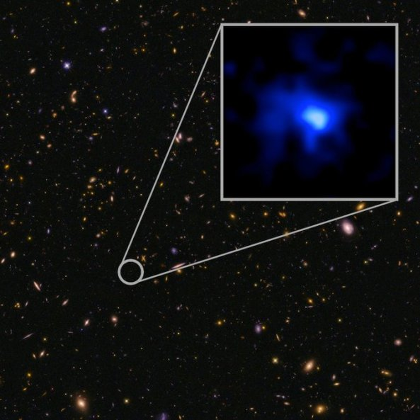 The farthest confirmed galaxy observed to date.