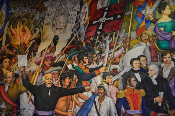 Mural of the Mexican Independence, by Juan O'Gorman. Courtesy of Lavidavalle.com.