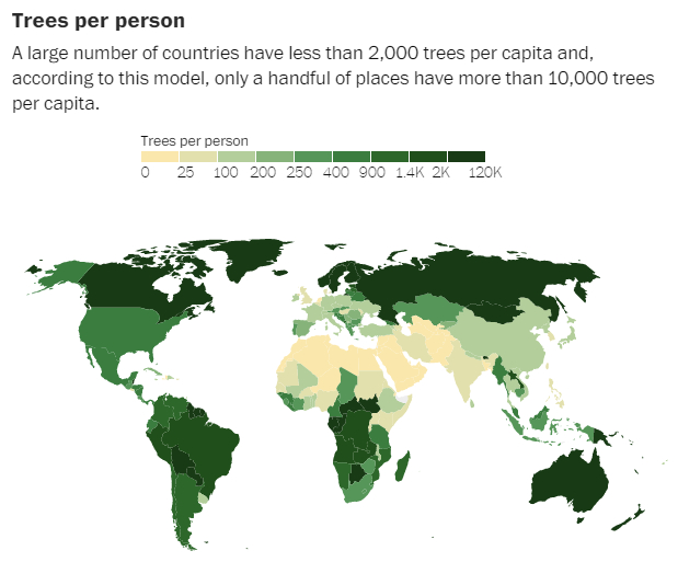 Trees Per Person